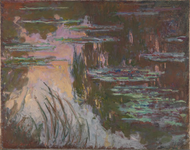 Monet: Water-Lilies, Setting Sun (1907)
