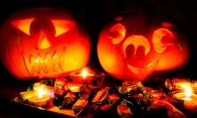Halloween pumpkins and sweets