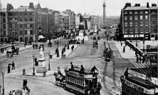 Photograph of O'Connell Street, Dublin, before the Easter Rising, by John L. Stoddard.