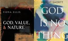 Covers of 'God, Value & Nature' and 'God is No Thing'