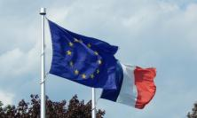 EU flag and French flag