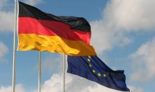 German flag and EU flag