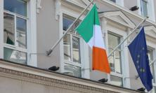 Irish flag and EU flag