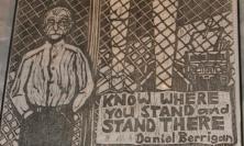 Drawing of Daniel Berrigan Sj