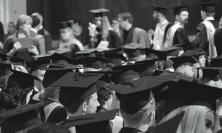 Photograph of graduates in mortarboards