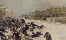 Ivan Vladimiriv's painting of Bloody Sunday,  St Petersburg, 1905