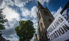 Polling station at church