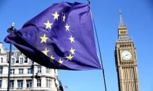 EU flag in Westminster