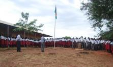 Loyola Secondary School in Wau, South Sudan at prayer