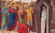 From 'The Raising of Lazarus' by Duccio di Buoninsegna