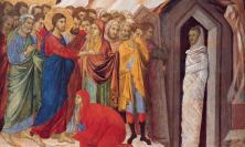 From 'The Raising of Lazarus' by Duccio di Buoninsegna