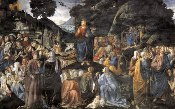 The Sermon On Mount By Cosimo Rosselli