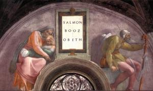 'Salmon - Boaz - Obed' by Michelangelo