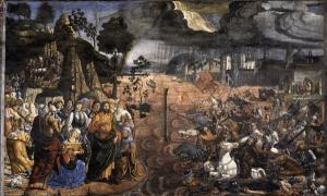 'Crossing of the Red Sea' by Cosimo Rosselli